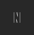 Logo N letter monogram mockup graphic geometric vector image