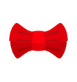 red bow tie isolated fashion accessory at vector image