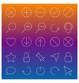 Set of linear Web icons vector image