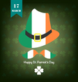 st patrick background green vector image