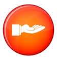 Outstretched hand gesture icon flat style vector image
