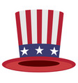 uncle sam hat symbol of america vector image