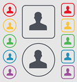 User Person Log in icon sign symbol on the Round vector image