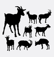 Goat animal silhouettes vector image