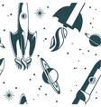 rocket ship pattern vector image vector image