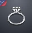 diamond ring icon symbol 3D style Trendy modern vector image