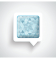 Abstract 3D Design - Speech bubble blue vector image
