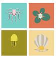 assembly flat octopus jellyfish vector image
