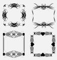 Decorative ornamental frame elements vector image