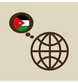 globe sphere flag jordan country button graphic vector image