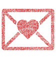 love letter fabric textured icon vector image