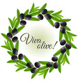 Olive wreath vector image