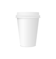 Paper cup for coffee isolated on white background vector image