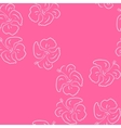 Seamless pattern of hibiscus flowers Pink floral vector image