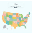 usa map full color high detail separated all state vector image