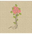 Vintage rose doodle flower vector image