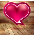 Valentines Day background with heart EPS 10 vector image