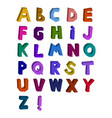 abstract 3d alphabet drawn by vector image
