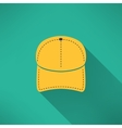 Baseball cap with long shadow National american vector image