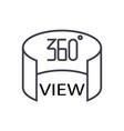 360 view concept thin line icon symbol vector image