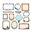 Colorful doodle frames vector image vector image