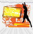active woman flyer template on abstract background vector image vector image