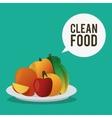 Clean food design vector image