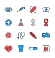 Healthcare medical line icons vector image vector image