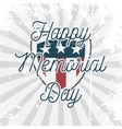 Happy Memorial Day Shield Sign vector image