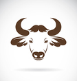 images of bison head vector image vector image