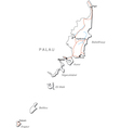 Palau Black White Map vector image vector image
