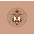 Bee and honeycomb flat icon vector image