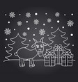 chalkboard new year card with goat vector image