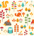 Cute autumn pattern vector image