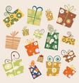 gift set vector image