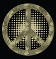 peace symbol military style vector image