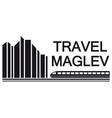 travel maglev symbol vector image
