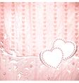 Wedding vintage wooden background vector image