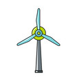 windmil icon on white background vector image