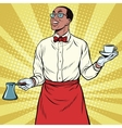 African American Barista made freshly ground vector image