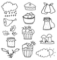 Hand draw stock thanksgiving on doodles vector image