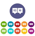 Signs of yes and no set icons vector image