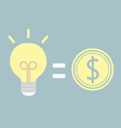 good idea for money vector image