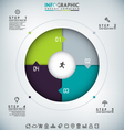 Round Infographic vector image
