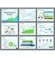 Business infographics presentation slides template vector image