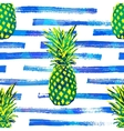 Seamless tropical pattern background with vector image