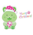 christmas children card vector image