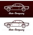abstract retro car design vector image