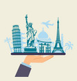 conceptual symbol of traveling around the world vector image