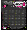 grunge emo calendar for 2009 vector image
